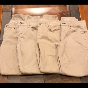 4 Arizona Khakis Skinny